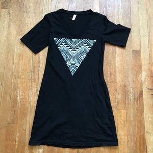 American Apparel Black Tunic w/ Triangle Print
